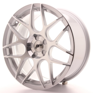JR18 8,5x18 5H BLANK ET35-45 SILVER MACHINED