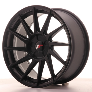 JR22 8x17 5x100 ET35 MATT BLACK
