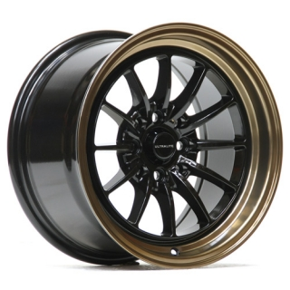 ULTRALITE UL12 8,25x15 4x100/114,3 ET20 BLACK + BRONZE COPPER