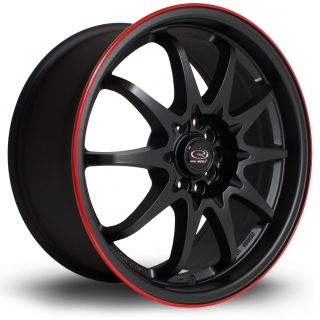 ROTA FIGHT 8x17 5x100/114,3 ET48 FLAT BLACK RED LIP
