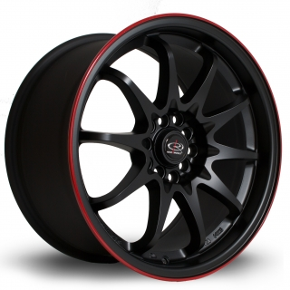 ROTA FIGHT 9x17 5x100/114,3 ET35 FLAT BLACK RED LIP