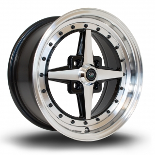 ROTA ZERO 7x15 4x100 ET35 BLACK POLISHED FACE