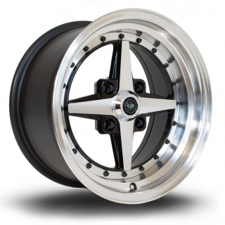 ROTA ZERO 8x15 4x100 ET10 BLACK POLISHED FACE