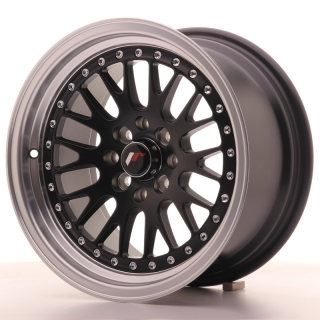 JR10 8x15 4x100/108 ET20 MATT BLACK MACHINED LIP
