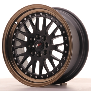 JR10 7x16 4x100/108 ET30 MATT BLACK BRONZE LIP
