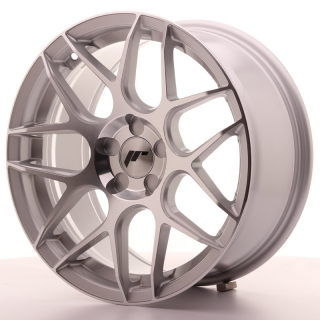 JR18 8x17 5H BLANK ET35 SILVER MACHINED