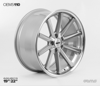 OEMS 110 9,5x19 5x112 ET42 SILVER MACHINED FACE