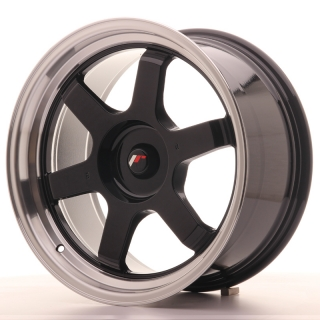 JR12 9x18 5x100 ET25-27 GLOSS BLACK