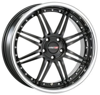 MOTEC ANTARES EVO 8,5x19 5x120 ET35 BLACK STEEL LIP