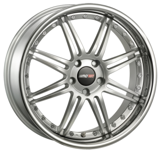 MOTEC ANTARES EVO 8,5x19 5x112 ET45 HIGH GLOSS SILVER STEEL LIP