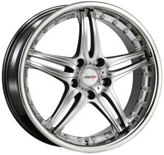 MOTEC PANTERA 8,5x18 5x108 ET38 HYPER BLACK POLISHED STAINLESS STEEL LIP