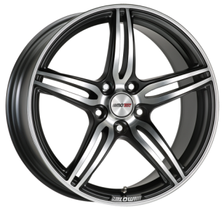 MOTEC PENTA 9x20 5x112 ET30 MATT BLACK METAL POLISHED