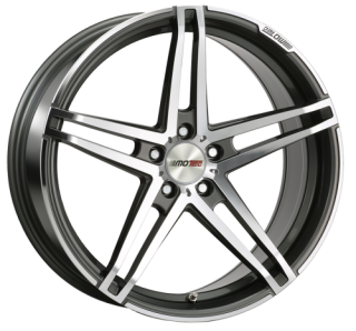 MOTEC XTREME 8,5x19 5x112 ET45 GUNMETAL POLISHED