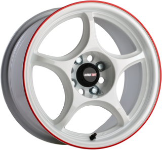 MOTEC MCTC RACING LIGHT 8x15 4x100 ET20 57,1 WHITE RED RING
