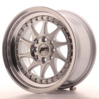 JR26 8x15 4x100/108 ET25 SILVER MACHINED