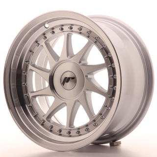 JR26 8x16 4x100 ET10-30 SILVER MACHINED