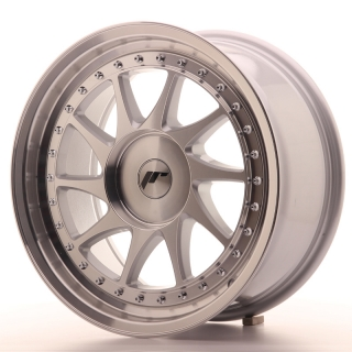 JR26 8x17 4x110 ET20-35 SILVER MACHINED