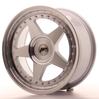 JR6 8x17 4x100 ET20-35 SILVER MACHINED