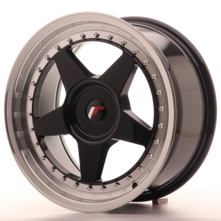 JR6 8x17 4x100 ET35 GLOSS BLACK