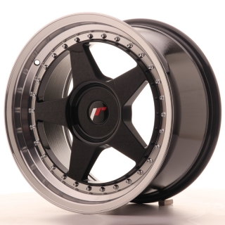 JR6 9x17 4x100 ET20-35 GLOSS BLACK
