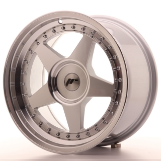 JR6 9x17 4x100 ET20-35 SILVER MACHINED