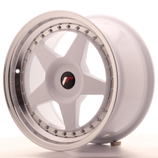 JR6 9x17 4x100 ET20-35 WHITE