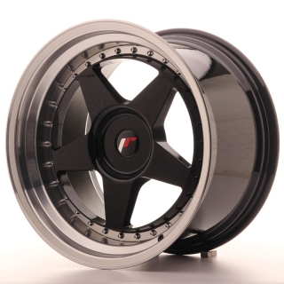 JR6 10,5x18 4x114,3 ET0-25 GLOSS BLACK