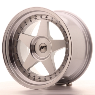 JR6 10,5x18 5x118 ET0-25 SILVER MACHINED