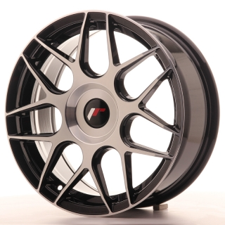 JR18 7x17 5x100 ET20-40 BLACK MACHINED
