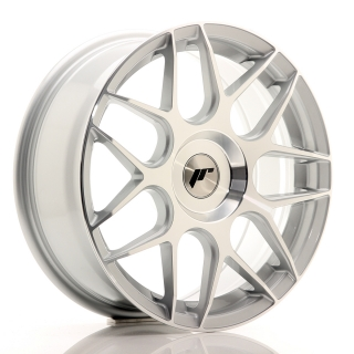 JR18 7x17 5x100 ET20-40 SILVER MACHINED