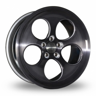 BOLA B5 9,5x18 5x130 ET40-45 BLACK BRUSHED POLISHED FACE