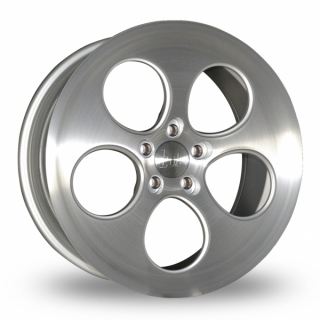 BOLA B5 9,5x18 5x100 ET40-45 SILVER BRUSHED POLISHED FACE