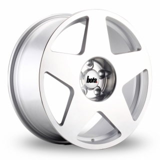 BOLA B10 8,5x17 5x114,3 ET30-45 SILVER POLISHED FACE