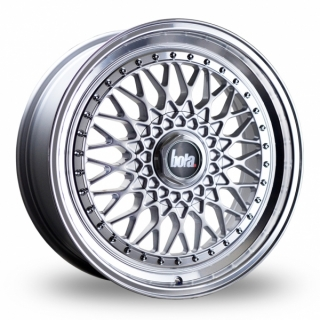BOLA TX09 8x18 4x98 ET20-38 SILVER POLISHED LIP