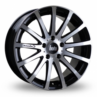 BOLA XTR 9,5x20 5x98 ET20-55 GLOSS BLACK POLISHED FACE