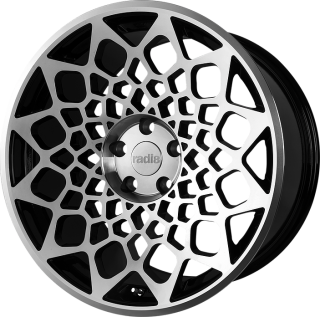 RADI8 R8B12 9,5x18 5x112 ET42 66,6 BLACK MACHINED FACE