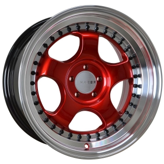 KAMBR 150R 8x15 5x112 ET23-25 CANDY RED POLISHED LIP