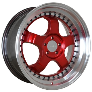 KAMBR 150R 7,5x17 4x108 ET38-40 CANDY RED POLISHED LIP