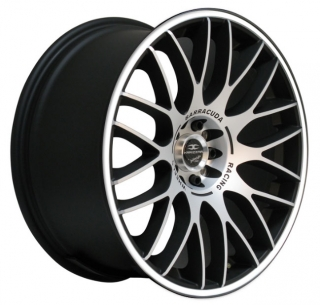 BARRACUDA KARIZZMA 7,5x17 4x98/108 ET38 MATT BLACK POLISHED WHITE TRIM
