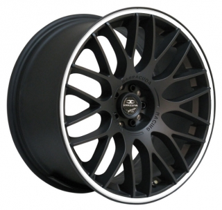BARRACUDA KARIZZMA 8x18 4x100/108 ET38 MATT BLACK PURESPORTS WHITE TRIM