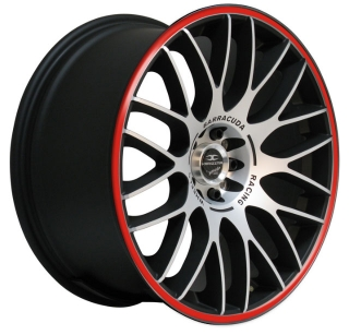 BARRACUDA KARIZZMA 8x18 4x100/108 ET38 MATT BLACK POLISHED RED TRIM