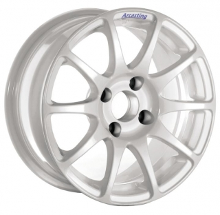 ARCASTING EXCALIBUR RALLY 6x14 4x100 ET35 WHITE TOYOTA YARIS gr.N