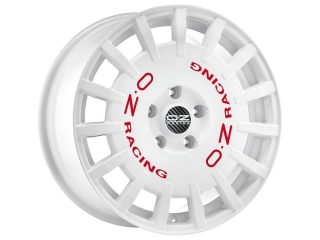 OZ RACING RALLY RACING 8x18 5x108 ET45 WHITE RED LETTERING