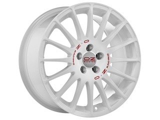 OZ RACING SUPERTURISMO WRC 7x16 4x100 ET37 WHITE RED LETTERING