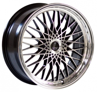 LENSO EAGLE 3 7,5x17 4x100 ET35 BLACK MACHINED FACE/POL DISH