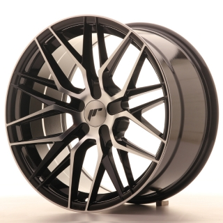 JR28 9,5x18 5H BLANK ET20-40 GLOSS BLACK MACHINED