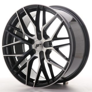JR28 8,5x19 5x100 ET20-40 GLOSS BLACK MACHINED