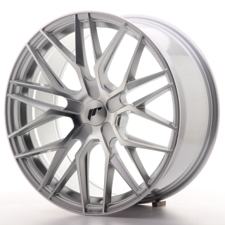 JR28 8,5x19 5x100 ET20-40 SILVER MACHINED
