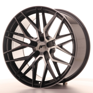 JR28 10x20 5x112 ET20-40 GLOSS BLACK MACHINED