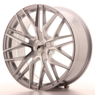 JR28 8,5x20 5H BLANK ET20-40 SILVER MACHINED